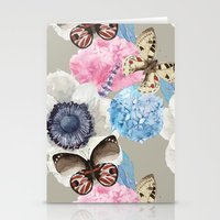 Vintage Flowers & Moths Stationery Cards