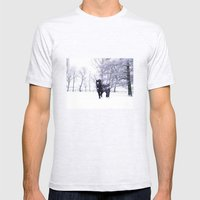 Horse  Mens Fitted Tee Ash Grey SMALL