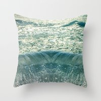 Glimpse of the Mermaid's Descent Throw Pillow