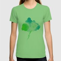 Calming Sky Womens Fitted Tee Grass SMALL