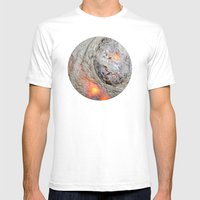 Flaming Seashell 3 Mens Fitted Tee White SMALL