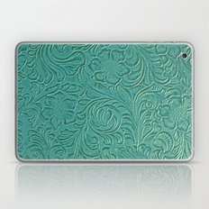 teal leather Laptop & iPad Skin