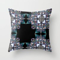Internal Kaleidoscopic Daze-15 Throw Pillow