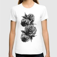 roses T-shirts featuring Four Roses by BIOWORKZ