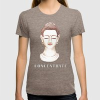 Buddha Concentrate Womens Fitted Tee Tri-Coffee SMALL