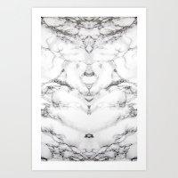 Marble BLCK Art Print