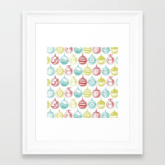 Baubles Framed Art Print