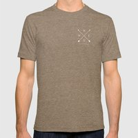 East & West Mens Fitted Tee Tri-Coffee SMALL