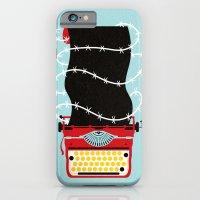 iPhone Cases featuring Typer Write by Dorian Danielsen