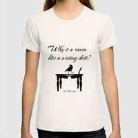 Alice In Wonderland Why … Womens Fitted Tee Natural SMALL