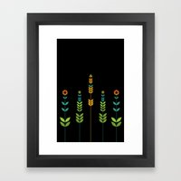 Simple Flowers Framed Art Print