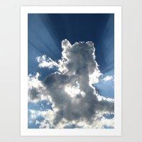 Cloud & Sunbeam Art Print