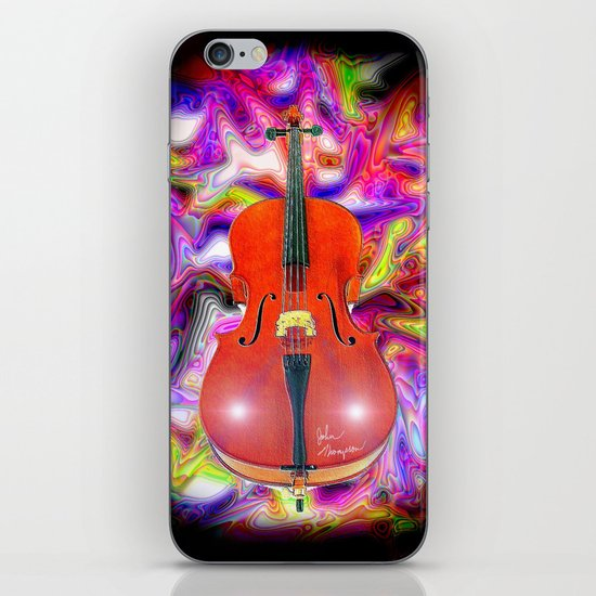 Psychedelic Cello iPhone & iPod Skin