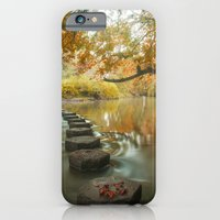 iPhone & iPod Case featuring Box Hill Stepping Stones by Clive Eariss