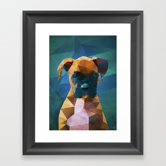 The Boxer Dog Portrait Framed Art Print By Ed Burczyk