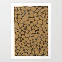 Yzor Pattern 006-2 Kitai… Art Print