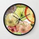 Paper Umbrellas Wall Clock