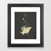 Exploding Triangles//Five Framed Art Print