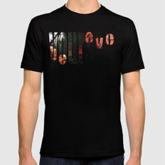 Believe (in) Yourself SMALL Mens Fitted Tee Black