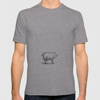 Pig Mens Fitted Tee Athletic Grey SMALL