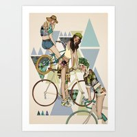 Bike Girls Art Print
