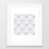 Floral Pattern - JUSTART © Framed Art Print