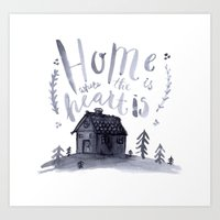 Home Is Where The Heart Is Art Print