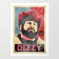 Dizzy 'Diz' Wallin Art Print