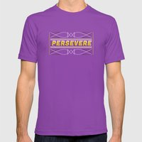 Persevere Mens Fitted Tee Ultraviolet SMALL