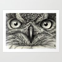 Eagle Owl 878 Art Print