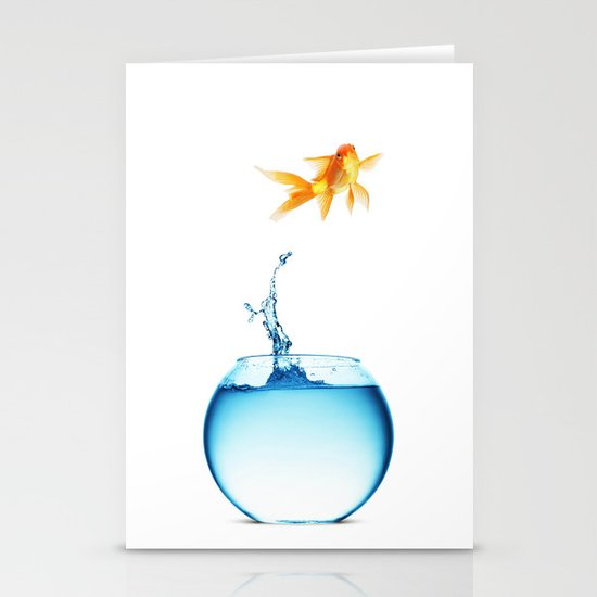 JUMPING Stationery Card