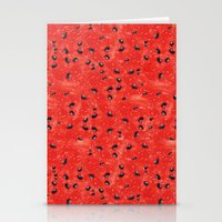 Watermelon Pattern Stationery Cards