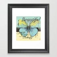 Beautiful Papillon ( But… Framed Art Print