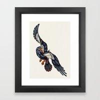 Eagle // Animal Poker Framed Art Print