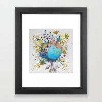the swamp planet Framed Art Print