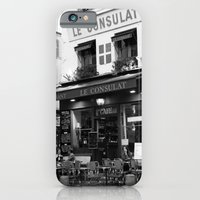 iPhone & iPod Case featuring B&W Le Consulat by sequinsandpearls