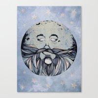 Moon & The Stars Canvas Print