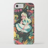 alice in wonderland iPhone & iPod Cases featuring Alice in Wonderland by Karl James Mountford