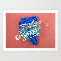 F****** Hipsters - 3D Ty… Art Print