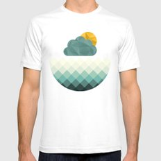 Sea Polygons Mens Fitted Tee White SMALL