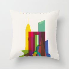 Shapes of Mexico City accurate to scale Throw Pillow