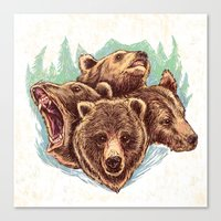 Four Bears Canvas Print