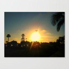 Air Plane In The Sun Canvas Print