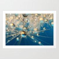 Dandy Drops in Royal Blue Art Print