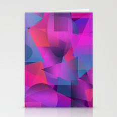 Abstract cube Stationery Cards