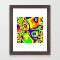 Chaotic Impact Framed Art Print