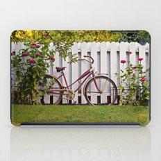 Bike with Fence & Flowers iPad Case