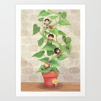 Attack On Beanstalk Art Print