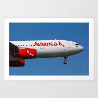 Avianca Airbus A330 Art Print