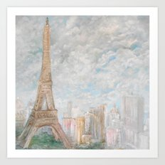 Poetic Paris Art Print